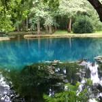 Les fontaines bleues du château de Beaulon